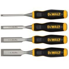 DEWALT Wood Chisel Set (4-Piece)-DWHT16063 at The Home Depot