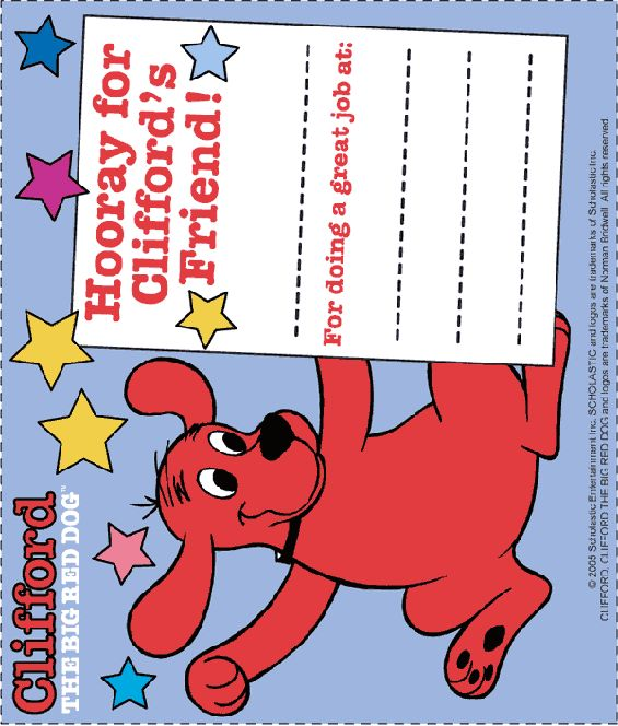 clifford the big red dog craft ideas 1000 images about preschool awards on 8014