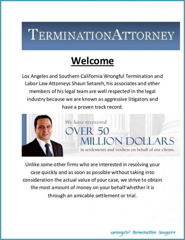 Seven Things You Wont Miss Out If You Attend Wrongful Termination Lawyers Wrongful Termination Lawyers Good Lawyers Attorney At Law Business Lawyer