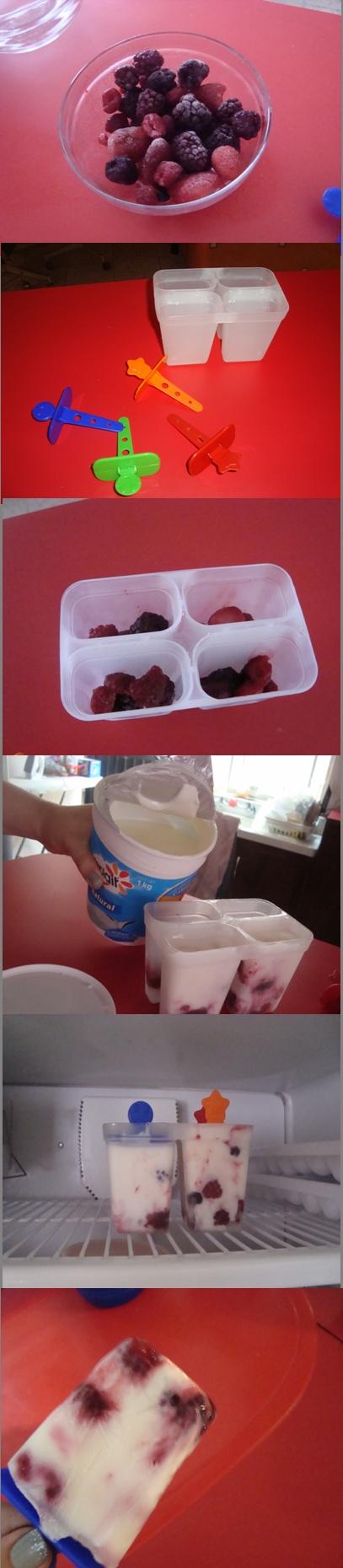 Paletas de Yogurth una idea rica y baja en calorias.