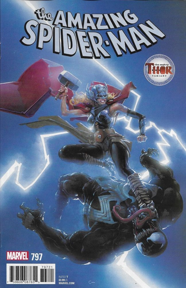 Marvel The Amazing Spider-man comic issue 797 Limited Thor variant