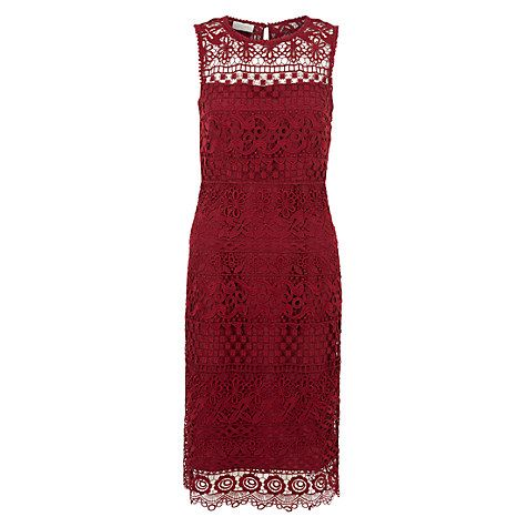 Buy Hobbs Clarissa Dress, Burgundy Online at johnlewis.com