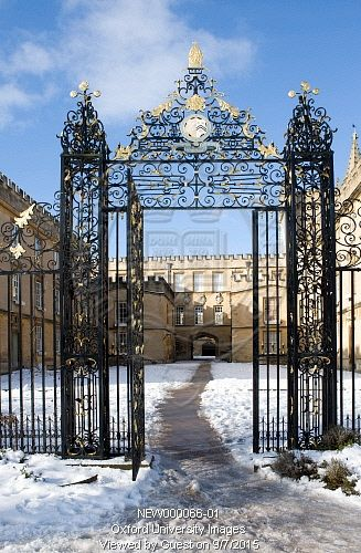Entrance gate, New College Oxford