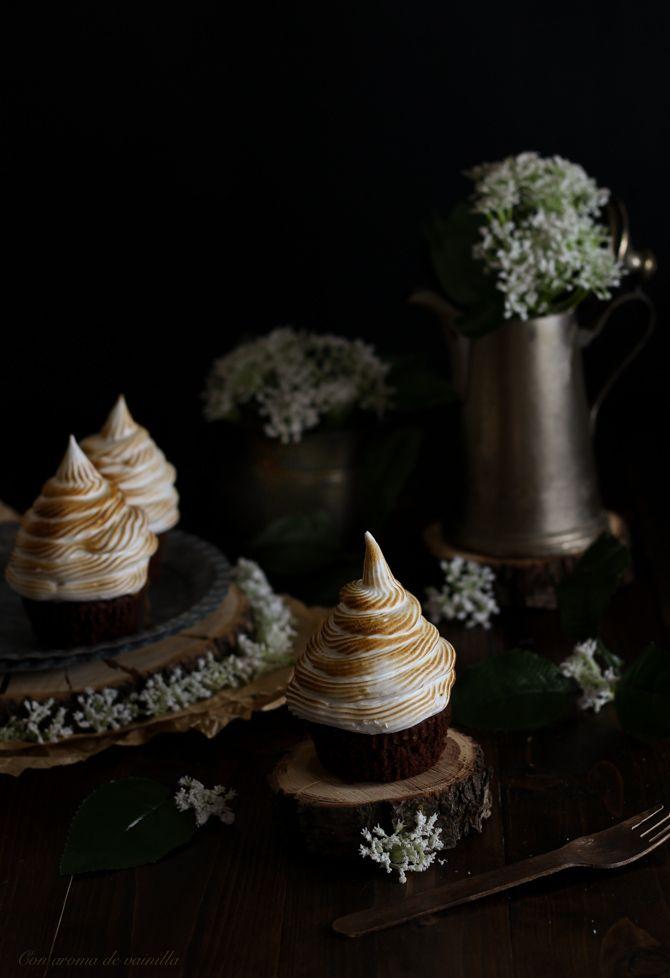 Brownie Alaska Cupcakes | Con Aroma de Vainilla
