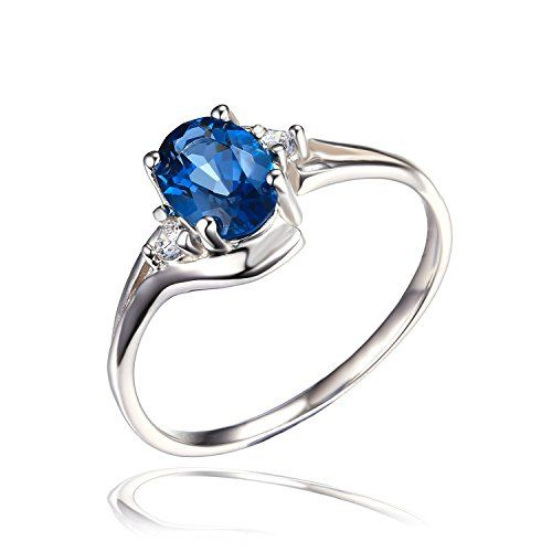 Jewelrypalace Women's Natural London Blue Topaz Gemstone 925 Sterling Silver Ring Size 7. Artisan handcrafted jewelry. Rhodium plating gives a bright, shiny, long-lasting silver-colored finish to a piece. Makes a wonderful gift for any occasion. Natural London Blue Topaz Ring, 925 sterling silver won't change color or get dark. All the sizes displayed are in stock.