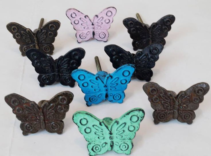More in Metals and Shapes, Butterfly Knobs ! Available in various colors and distressed finishes. Would be launching more in metals soon.