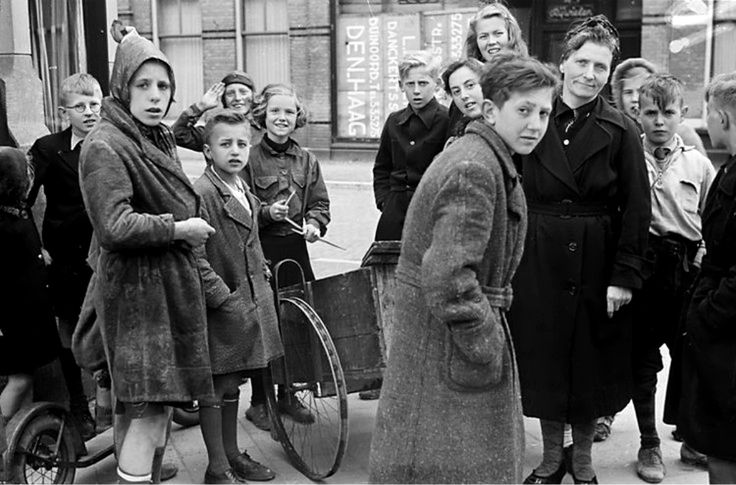Dutch women and children illegally gather firewood during the Hunger Winter. After the national railways complied with the exiled Dutch government's appeal for a railway strike starting Sept 1944 to further the Allied liberation efforts, the German administration in occupied Netherlands retaliated by placing an embargo on all food transports to the western Netherlands.  Some 4.5 million Dutch civilians were affected and approximately 22,000 died because of the famine. The Hague November 1944