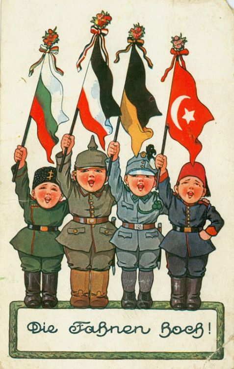 Ottoman Empire Flag During Ww1 Central Powers,...