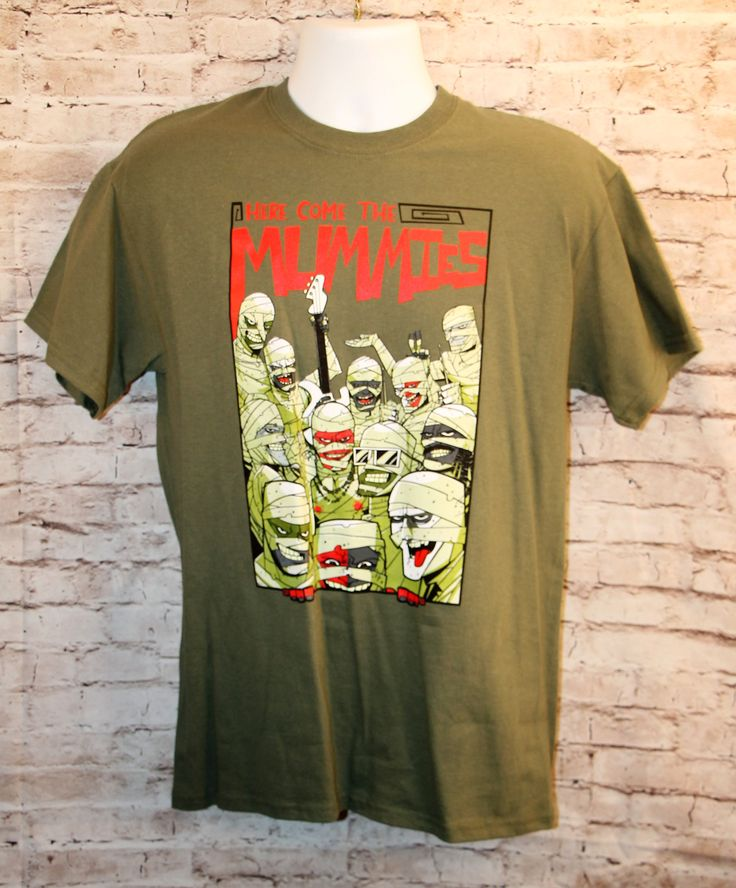 Here Come's the Mummies Tour Green Funk Rock T-Shirt Men's Size M
