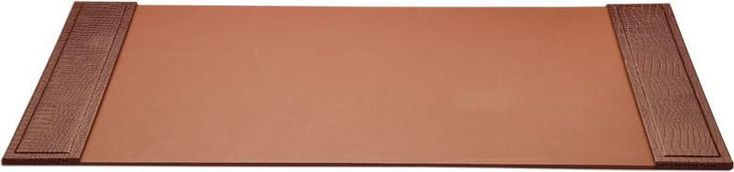 Crocodile Embossed Leather 34x20 Desk Pad with Side Rails P2001 by Decasso