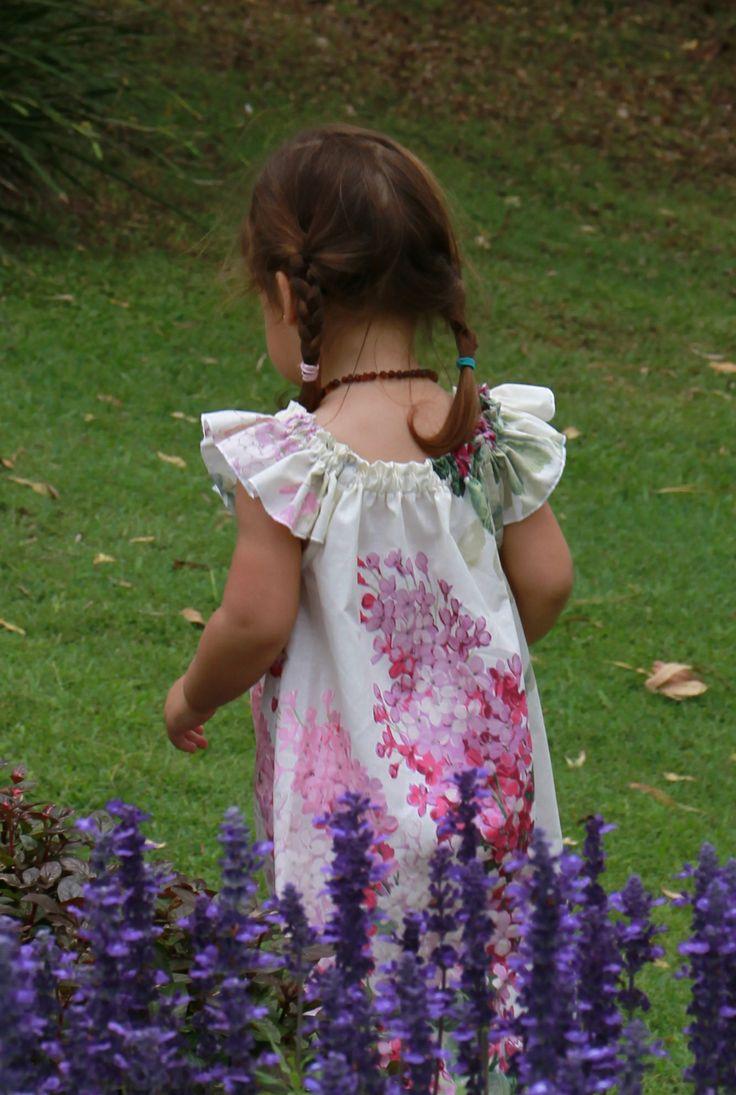 Pink hydrangea print dress
