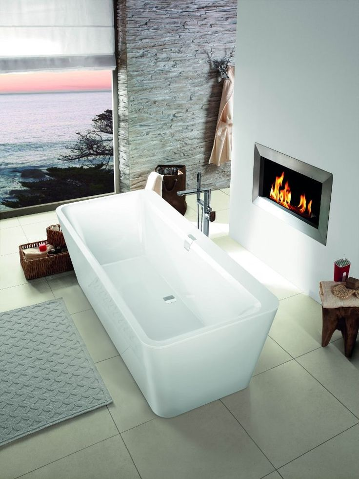 quaryl bathtub squaro edge 12 by villeroy boch bathroom fireplace