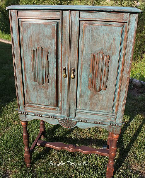 How To Do Color Wash: Vintage Stereo Cabinet All Decked Out In CeCe  Caldwellu0027s Destin