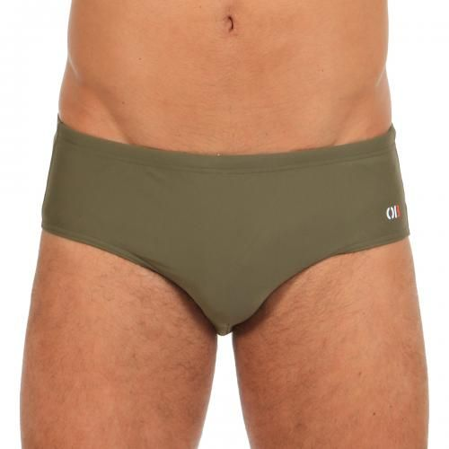 LYCRA SLIP WITH HIDDED DRAWSTRING - Pug lycra Slip with tone on tone stitching, adjustable hidden drawstring, Orlebar Brown logo printed on the front.  #mrbeachwear #beachwear #swimshort #summer #beach #mens #fashion #orlebarbrown #slip #armygreen