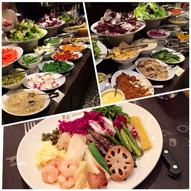 Today's #dinner   1.23.16 The Salad Bar is really nice too! I recommend BARBACOA! I got a lot of nutrition. I'm full but I'm very very happy! #BARBACOA  http://barbacoa.jp/ . サラダバーも麗しい これだけでもお腹が デザート戴く余裕は無し また必ず来ます 本当にご馳走様でした . #glutenfree#lowcarb#paleo#vegetables#dietaryfiber#cleanfood#holiday#happy#Tokyo#グルテンフリー#食物繊維#サラダ#バルバッコア#渋谷#食充 by iraka_0s