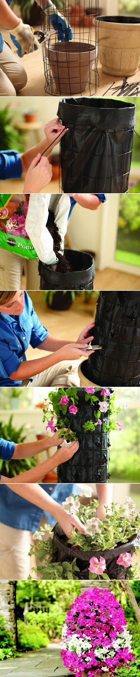 Alternative Gardning: How to build a flower tower