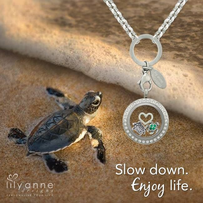 {Slow down... enjoy life} Yay for Thursday! What's everyone's plans for this weekend? #LilyAnneDesigns #PersonalisedLockets #WeLoveTurtles