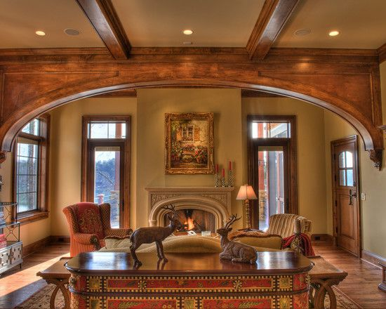 Lodge style design pictures remodel decor and ideas for Interior arch designs photos