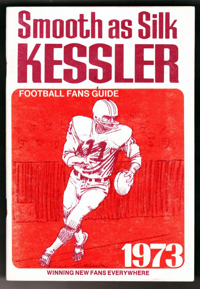 VINTAGE 1973 KESSLER WHISKEY COLLEGIATE AND NFL FOOTBALL SCHEDULE FREE SHIP