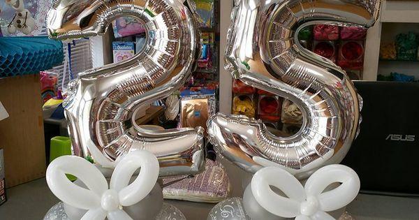 centrotavola numero 25 per nozze d argento | allestimenti per matrimonio e anniversario | Pinterest