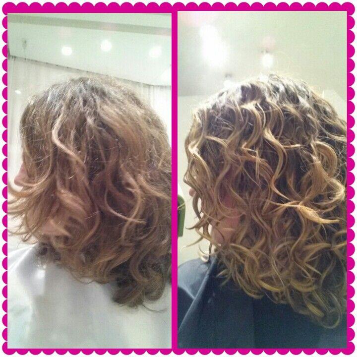 Before Amp After Devachan Devacurl Curly Hair