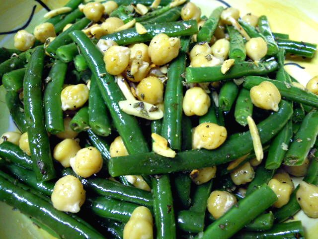 Green beans and chickpea salad.