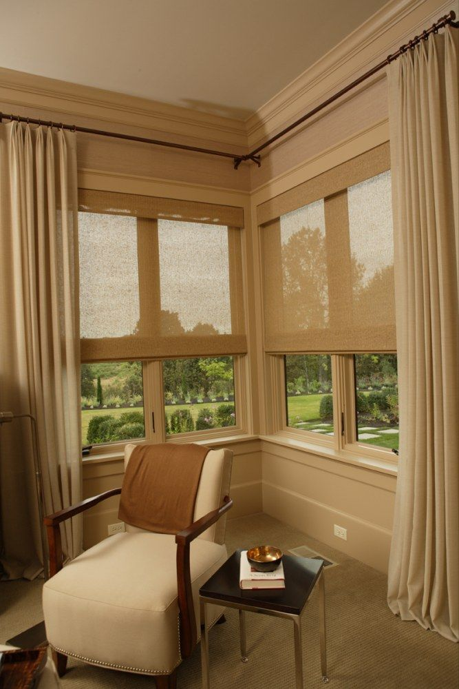 Best 25 Corner Window Treatments Ideas On Pinterest