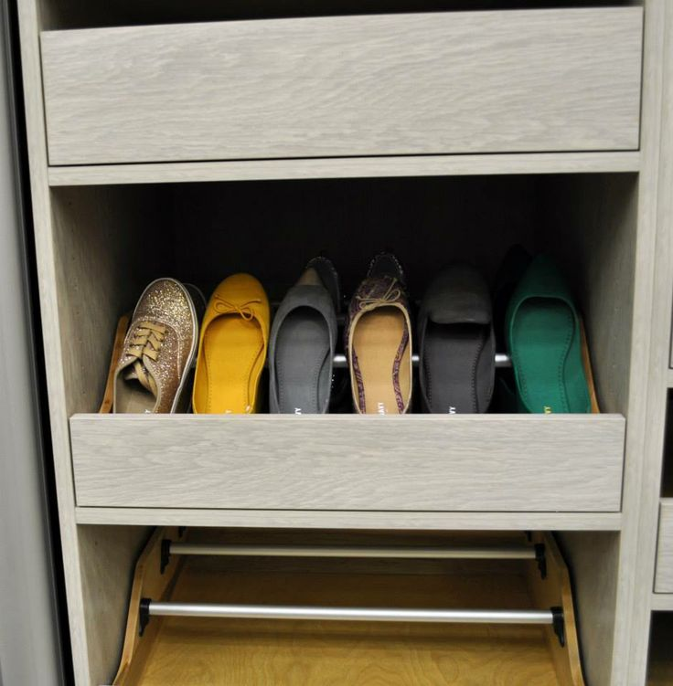Pull Out Shoe Drawer, California Closets