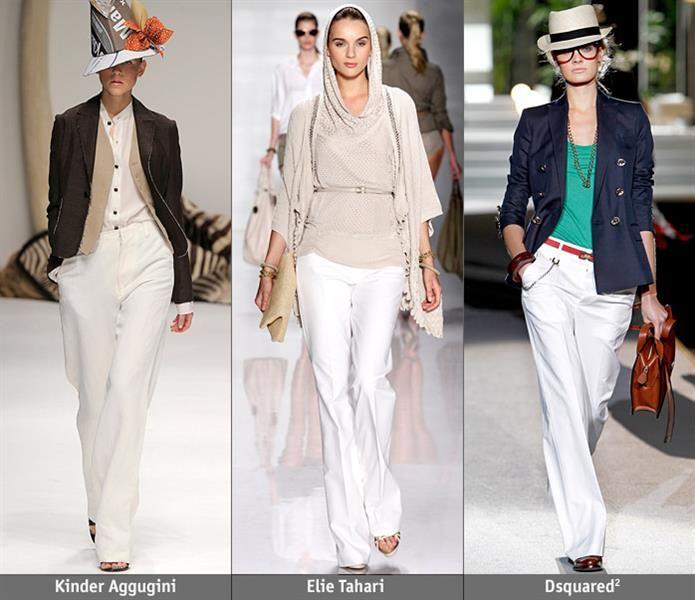 С чем носить белые льняные брюки