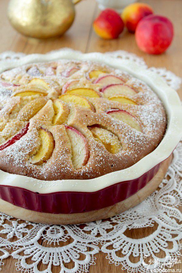 Пирог с нектаринами и кукурузной мукой | Кулинарные рецепты от «Едим дома!»