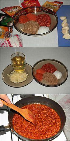 Приправа для корейских салатов. Приправа используется для быстрого приготовления салатов корейских - например, для приготовления корейской морковки: шинкуем морковку, ложку эссенции с сахаром, пожумкали, и добавили 2 ложки приправы с банки - морковка готова!