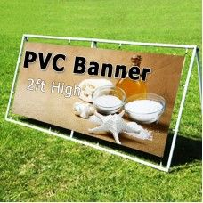 Print outdoor PVC banners from 1 foot to 6 foot high according to your choice. With proper eyelets and beautifully hemmed banners made of high quality of 500 gsm pvc material.