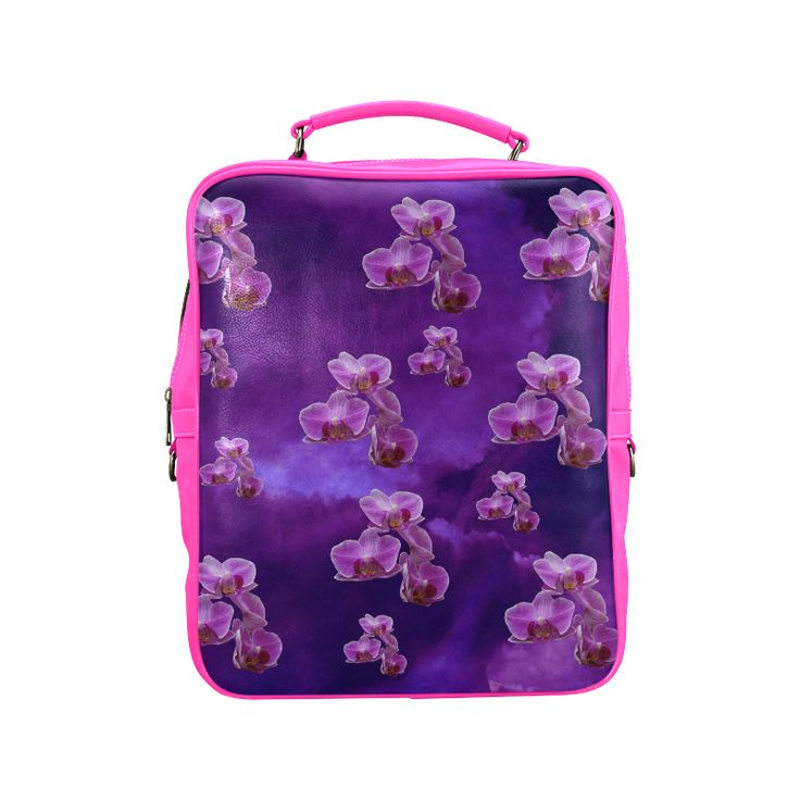 Purple Orchids Square Backpack. FREE Shipping. #artsadd #lbackpacks #flowers