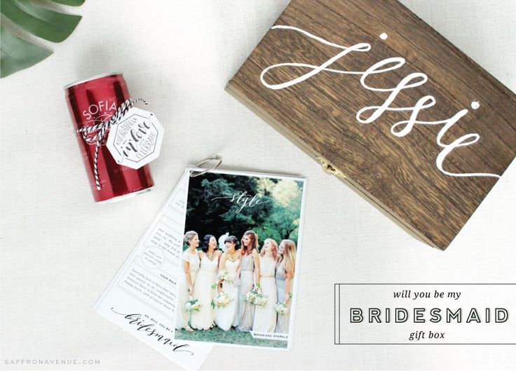 Be My Bridesmaid Box! - love this so much. I can't wait to ask my lovelies to be with me on my big day.