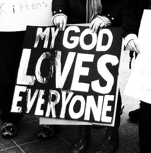 my God loves everyone