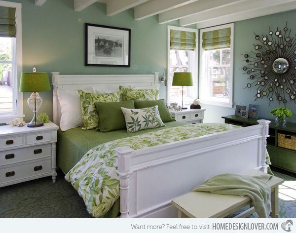 20 bedroom color ideas - Green Bedroom Decorating Ideas