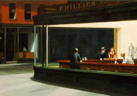 Mesmerizing Animated Edward Hopper's Masterpieces – Fubiz Media