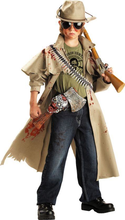 Boys Zombie Hunter Costume Party City Halloween