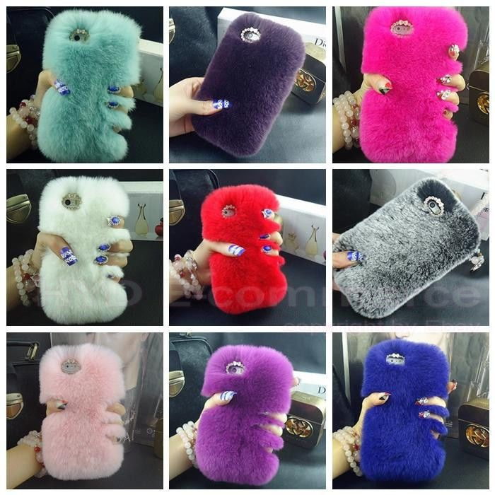 Luxury Bling Crystal Fox Rabbit Fur Case For Samsung Galaxy S5 S4 S3 Note 3 4 #UnbrandedGeneric