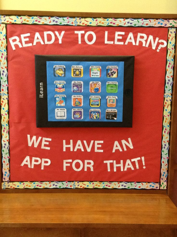 3d ipad app bulletin board i made for the beginning of