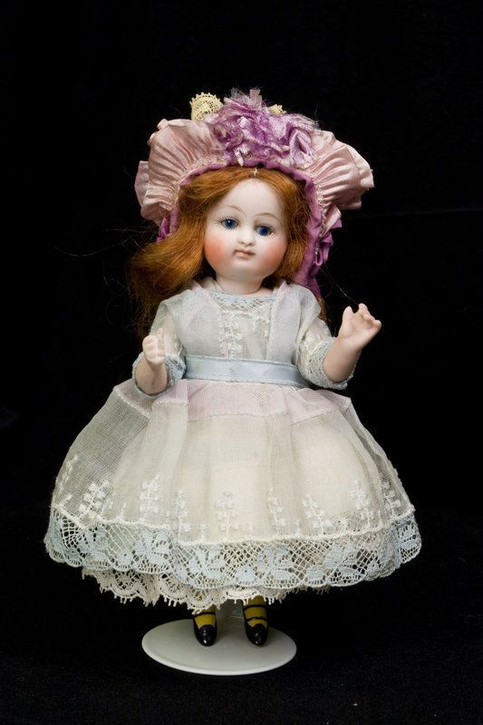 """5 1/2"""" Kestner all-bisque Pouty with rarest Yellow stockings! #unitedsellers"""