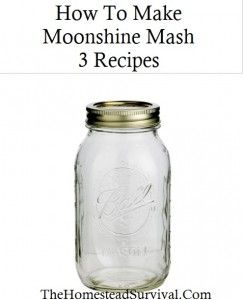 The Homestead Survival   How To Make Moonshine Mash – 3 Recipes   http://thehomesteadsurvival.com