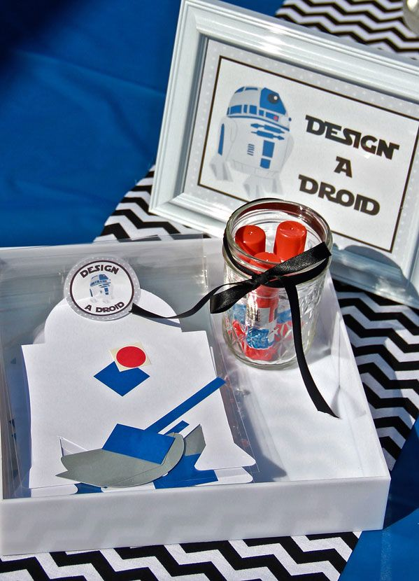 Boys Star Wars Birthday Party Game Build a droid activity