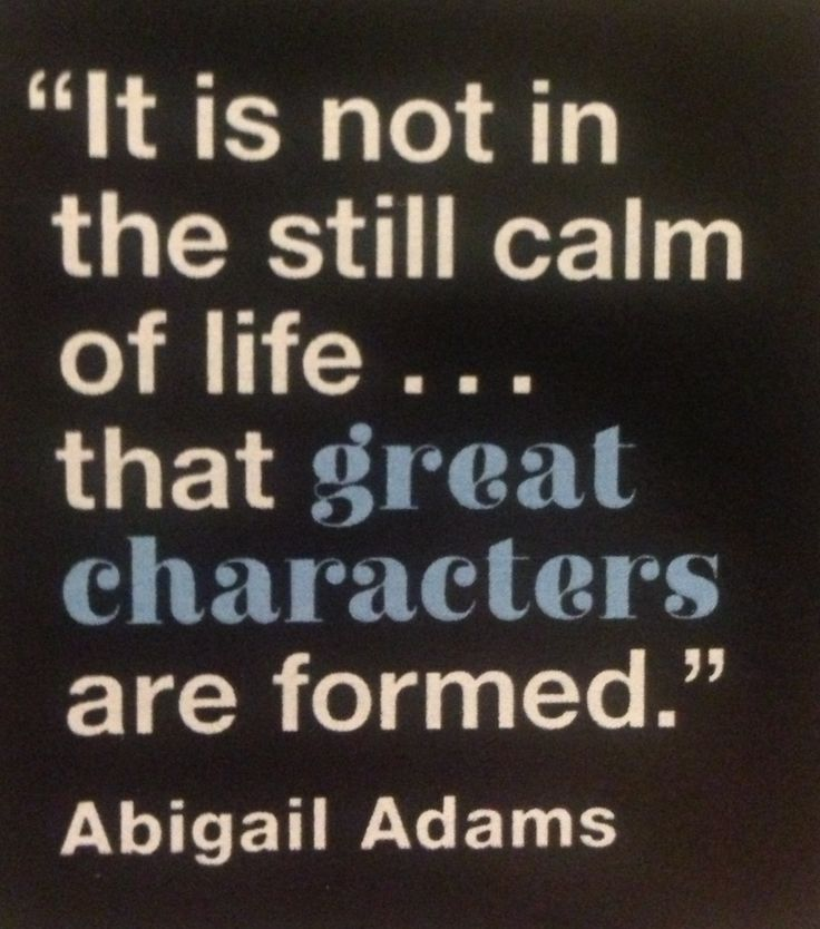 By Abigail Adams