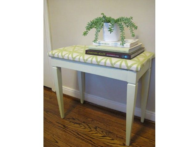 Love this DIY furniture idea for making over a thrift store bench! A great accent for kids and teen rooms!