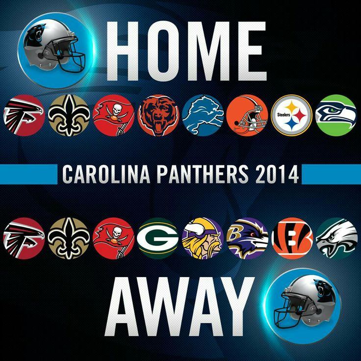 2014 Schedule of Home & Away Games for the Carolina Panthers!  #PanthersNation