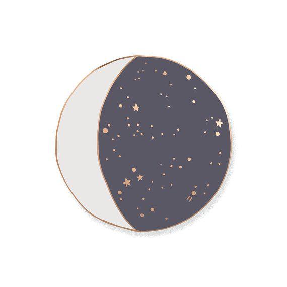 Moon Phase Enamel Lapel Pin Badge
