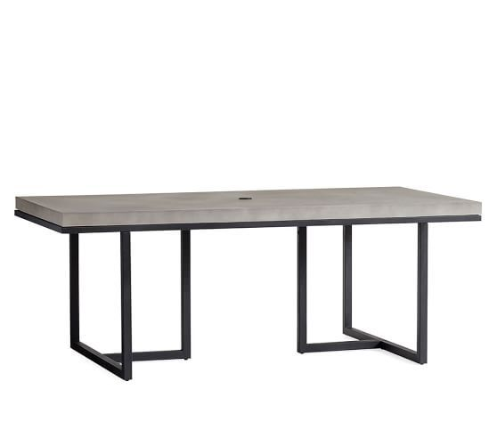 sloan concrete dining table pottery barn