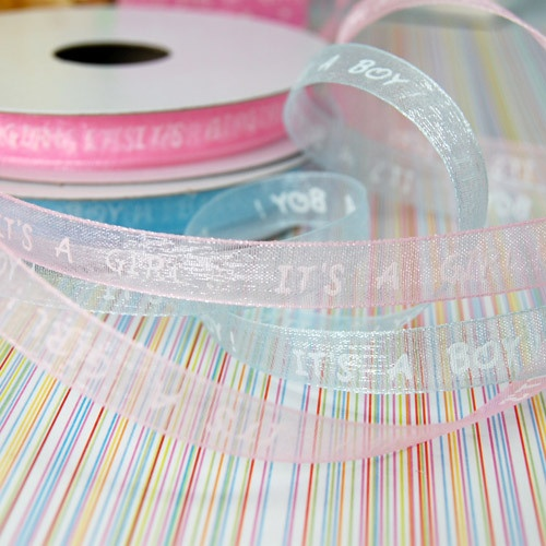 baby shower organza ribbon by beau coup