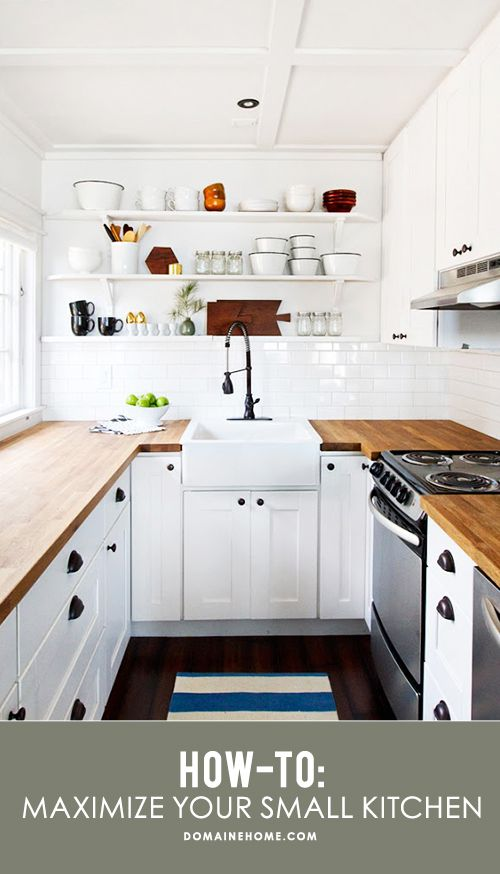Tips and solutions for maximizing space and getting the most out of a small kitchen
